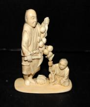 Beautiful Chinese Carved Ivory Group