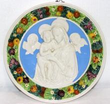 Italian Plaque of Madonna & Child