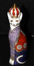 Royal Crown Derby Porcelain Cat