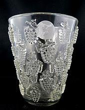 Lalique Malaga Crystal Vase Circa 1937