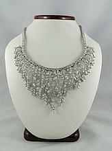 18Kt Gold 78.00ct Diamond Tiara Necklace