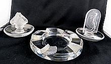 Lot of Three Lalique Crystals