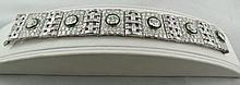 Platinum 8.50ct Center Diamond & 30.00ct Side Diamond Ladies Bracelet