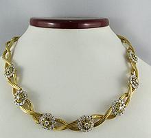 18Kt YG 7.00ct Diamond Ladies Necklace