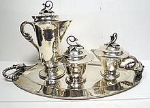 Louvre Mexican Sterling Silver Tea Set