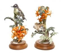 Pair of Royal Worcester Dorothy Doughty Birds