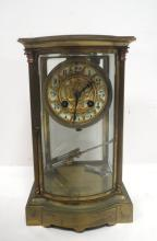 French Marti et Cie Crystal Regulator Clock
