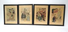 Collection of 4 Japanese Prints