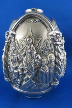 Large Made in Greece 999 Silver Egg Figures