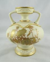 Antique Royal Worcester 2 Handled Vase