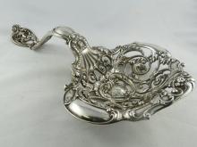 Large Sterling Silver Art Nouveau Bon Bon Spoon