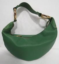 Gucci Green Leather Large Shoulder Bag