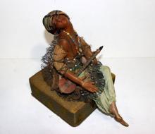 Antique Doll Wax Trinket Box