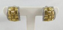 18Kt 2 Tone Roberto Coin Women's Earrings