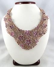 18Kt Rose Gold 331 ct Sapphire & 8.04ct Diamond Necklace