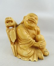 Antique Chinese Hand Carved Ivory Buddha Group
