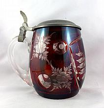 Bohemian Cut Glass Beerstein