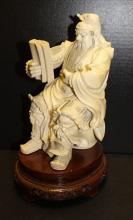 20th C. Carved Ivory Samurai