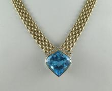 14Kt YG 0.50ct Topaz Necklace