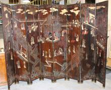 Antique 18th C. Chinese 8 Panel Coromandel Screen