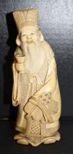 Carved Chinese Ivory Figure of Man w/ Cup