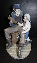Lladro Sailor Captain w/ Young Lad