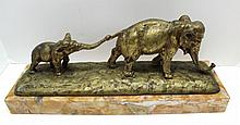 Guido Cacciapuoti (Italian 1892 - 1953) Bronze Elephant Group