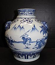 20th C. Chinese Blue & White Porcelain Vase