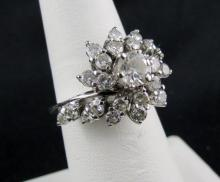 18Kt WG 1.50ct Diamond Cluster Ring