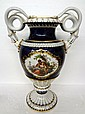 Meissen Hand Painted Porcelain 2 Handled Figural Vase