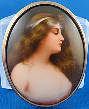 Signed European Porcelain Plaque