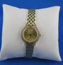 14Kt YG Diamond Geneva Watch