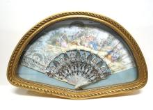 Antique Victorian Hand Painted Fan