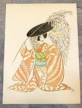 Al Hirschfeld (American 1903-2003) Kabuki Suite