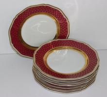 8 Pc. Limoges 'Malmaisan' Porcelain Salad Plates