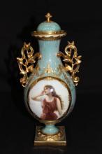Royal Vienna Hand Painted Porcelain Portrait Vase