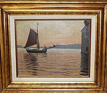 Hans Dahl (Norway 1849-1937) Oil on Board