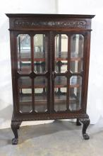 Antique American Mahogany Glass Display Case
