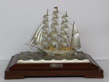 Vintage Sterling Silver Clipper Sailing Ship Model