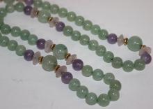 14Kt YG Translucent Jade Necklace