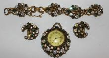 Vintage Florenza Costume Jewelry Suite