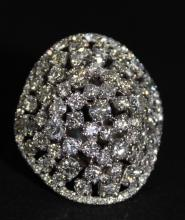 14Kt WG 9.00ct Diamond Dome Ring