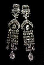 18Kt WG 7.77ct Diamond Earrings