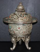 Imperial Circa 1900 Chinese Jeweled Incense Burner
