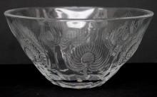 Lalique Crystal Floral Design Bowl