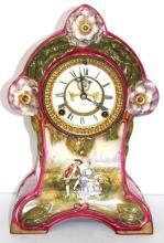 Royal Bonn Ansonia Porcelain Mantle Clock