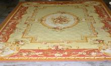 French Aubusson Wool Palace Size Rug