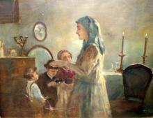Oil on Canvas Judaica