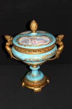 Mid 19th C. Sevres Dore Bronze Cache Pot, Signed C. Velly