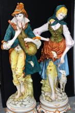 Pair of Porcelain Figures of Italian Man & Woman